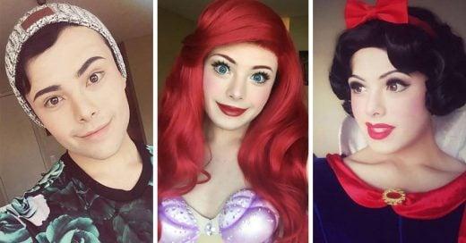 Este chico se transforma de manera magistral en nuestras princesas favoritas de Disney