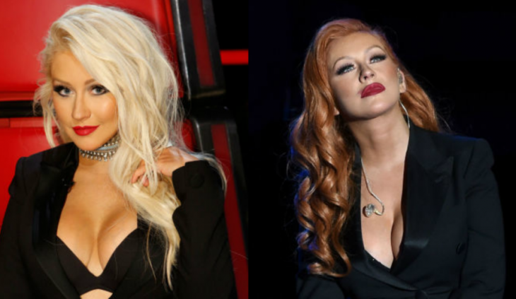 mujer rubia cambio de look y mujer de cabello pelirrojo