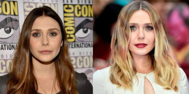 cambio de look mujer de cabello cafe y miel y mujer rubia