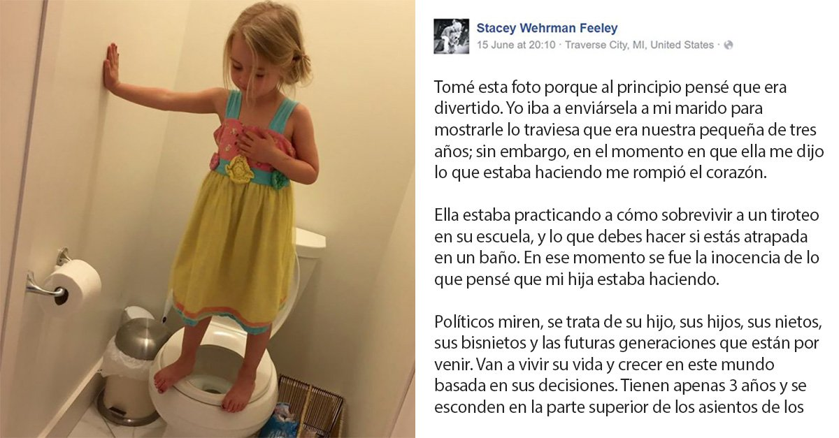 Stacey Feeley es la madre de una pequeña niña de 3 años, quién recientemente decidió publicar la foto de su hija en Facebook con una poderosa leyenda.