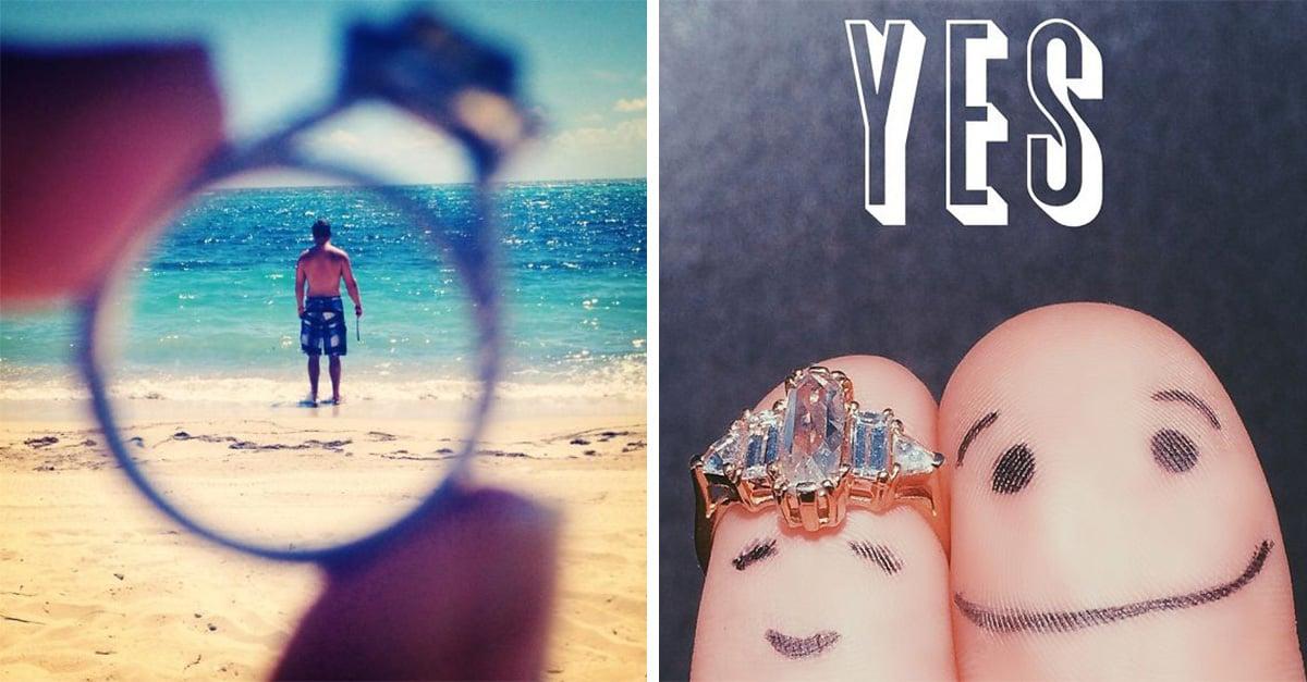 fotos creativas para anunciar compromiso