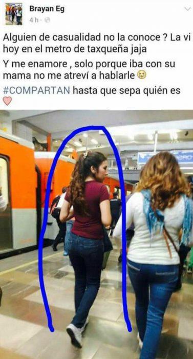mujer eres de espaldas caminando en el metro