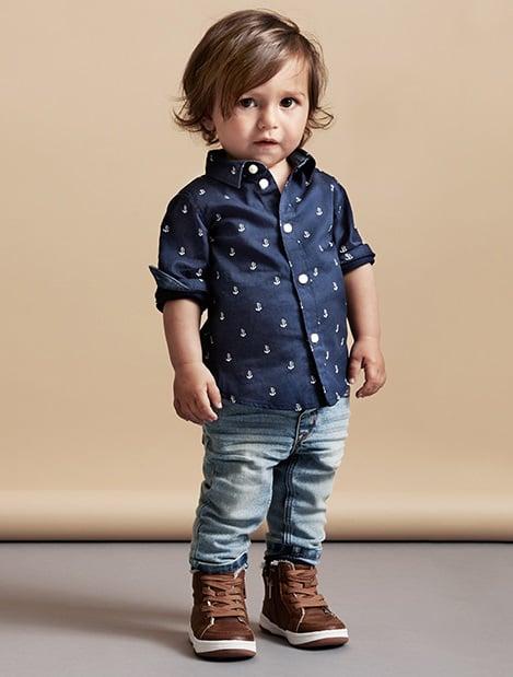 Niño mini fashionista vestido casual con botas