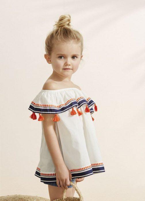 NIña mini fashionista con un estilo bohochic