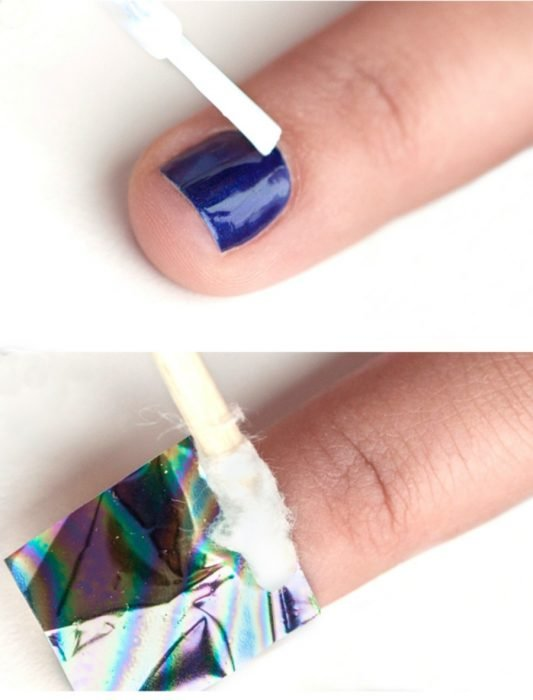 tutorial de diseño de uñas con holograma