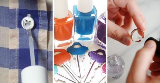 Usos para el esmalte de uñas que no conocias