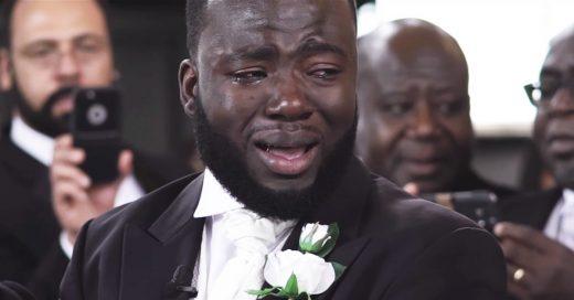 La reacción de este hombre al ver a su novia en su boda ha dado mucho de qué hablar