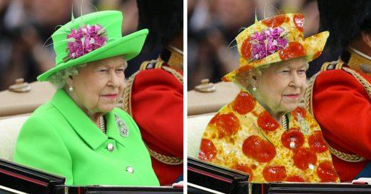 "Outfit ""pantalla verde"" de la reina"