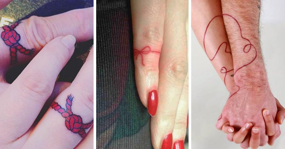 8a6a284c13c1 15 Hermosos tatuajes que le hacen un homenaje a la leyenda de  El hilo rojo