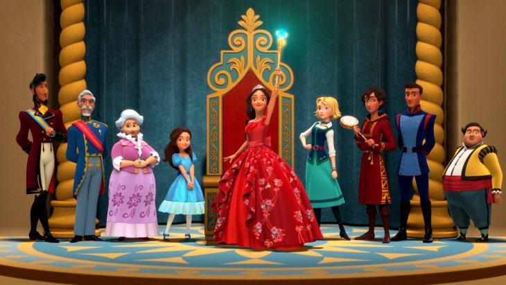 animacion de princesa de disney con vesido rojo