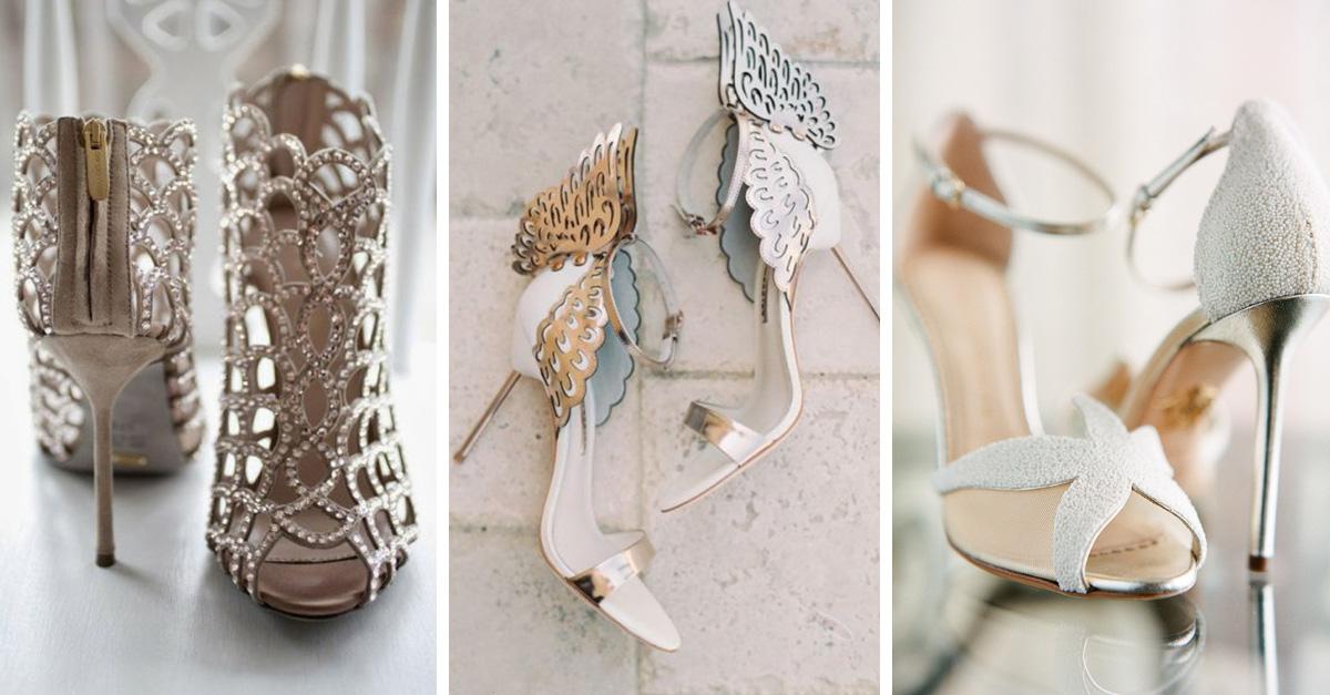 impresionantes zapatos de novia que parecen salidos de un cuento de hadas