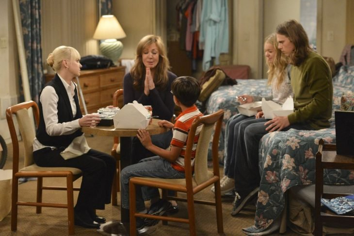 familia reunida en casa