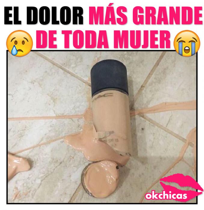 Meme de maquillaje roto.