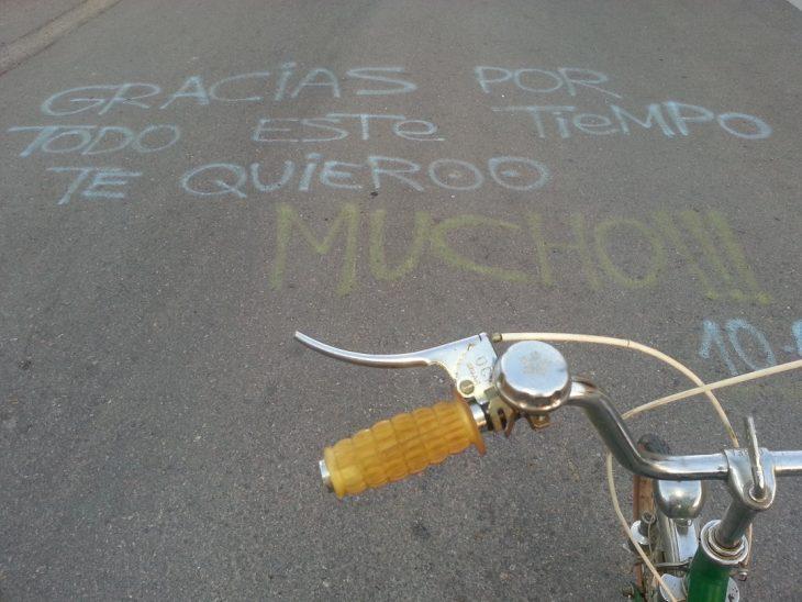 mensaje de amor en la calle