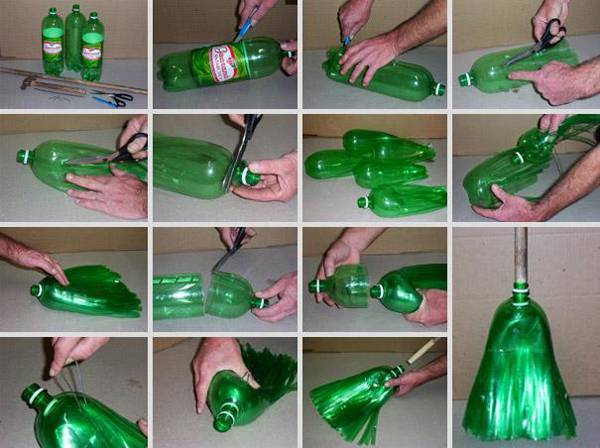 escoba de plástico