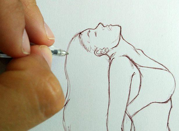 dibujo con mano izquierda
