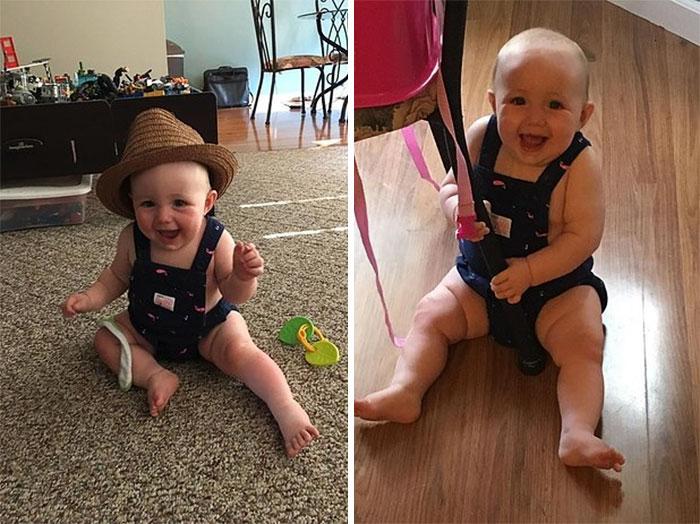 bebé sin camiseta