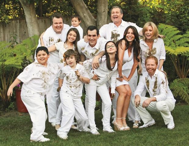 familia con ropa manchada