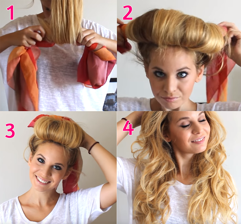 Como tener el pelo rizado sin calor