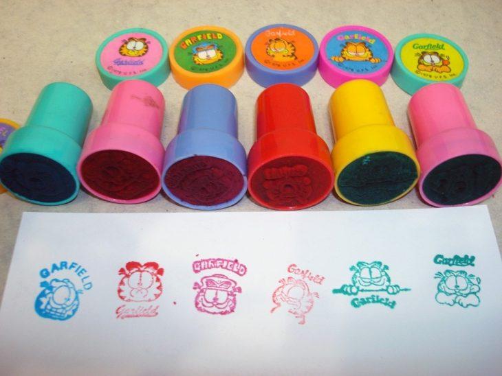 sellos de colores