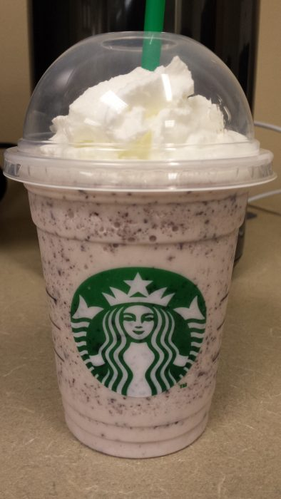 Frappucchino cookies and cream