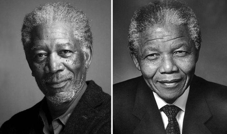 Morgan Freeman como Nelson Mandela