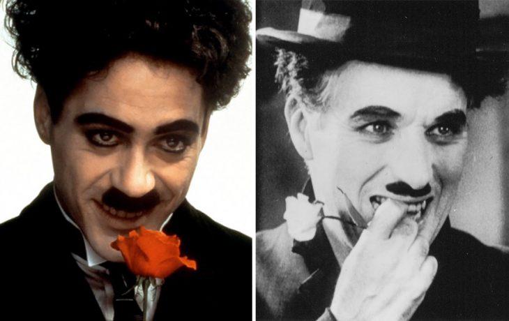 Robert Downey Jr. como Charlie Chaplin