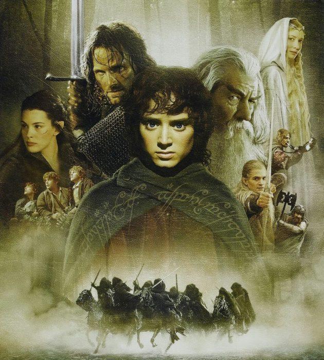Póster de la película El señor de los anillos.