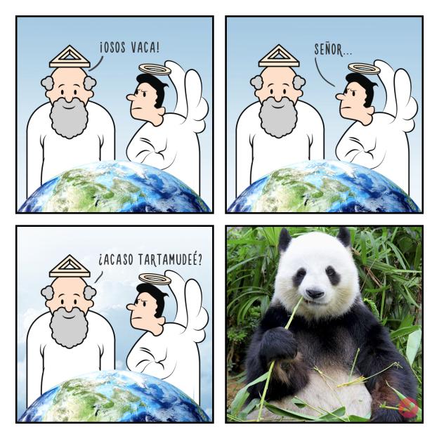 Cómics Dios creó a los pandas