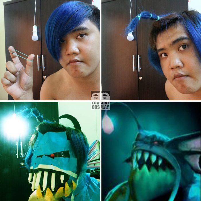 cosplay tailandés pez linterna