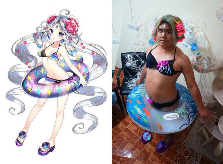 cosplay tailandés disfrazado caricatura japonesa