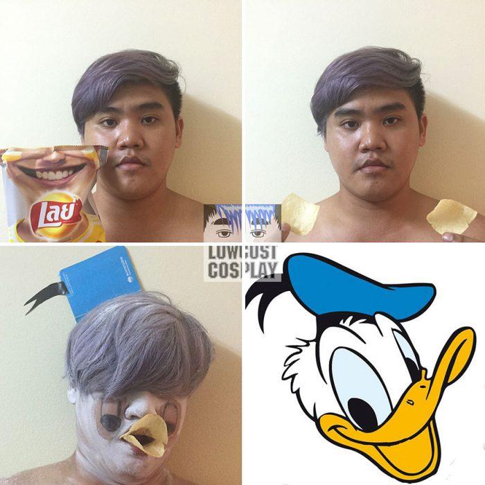 cosplay tailandés disfrazado pato donald
