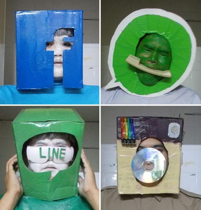 cosplay tailandés disfrazado logos redes sociales