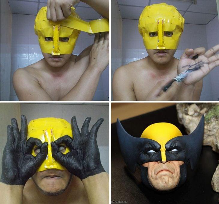 cosplay tailandés disfrazado de wolverine