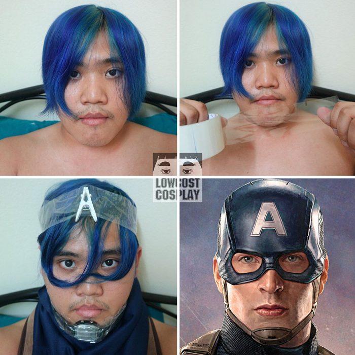 cosplay tailandés capitán américa