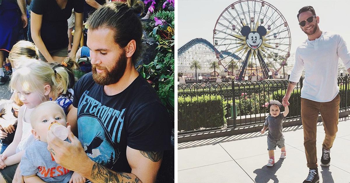 imágenes de la cuenta de Instagram de los papás más guapos de Disney