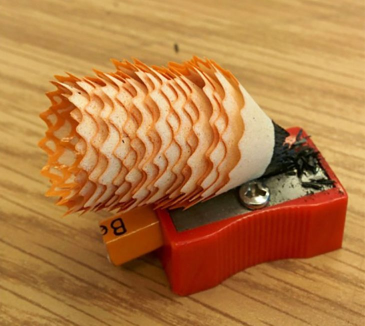 sharpener with garbage rolled to perfection
