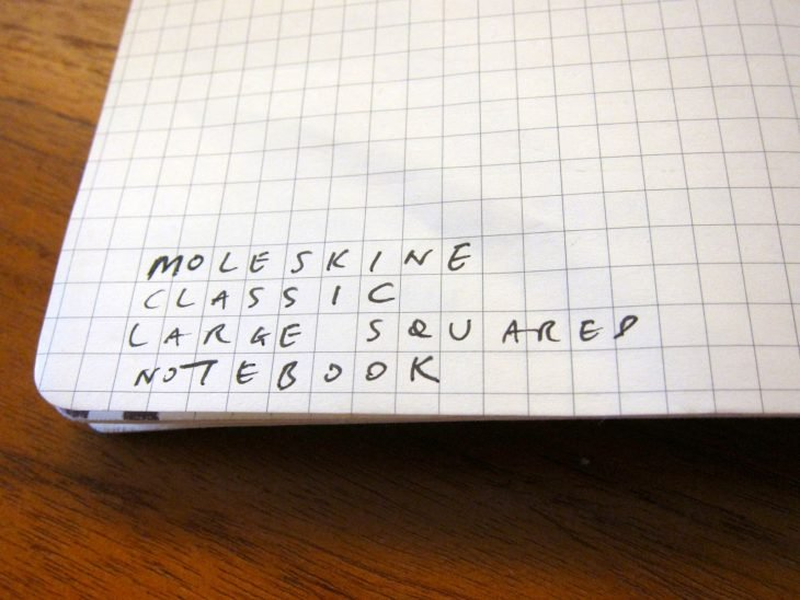 English words written on sheets of grid