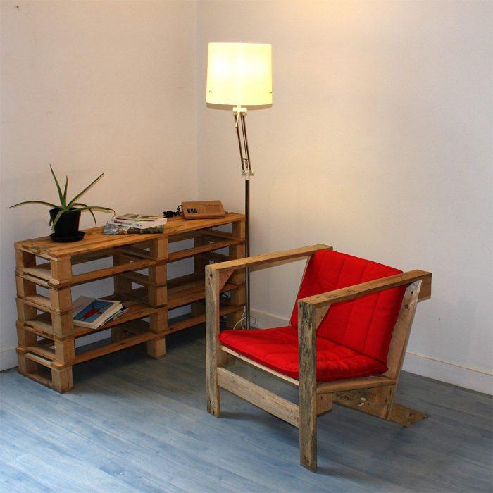 Muebles de interior creados con pallets