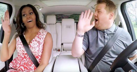Mira cómo canta y rapea la primera dama Michelle Obama en esta edición de Carpool Karaoke con James Corden