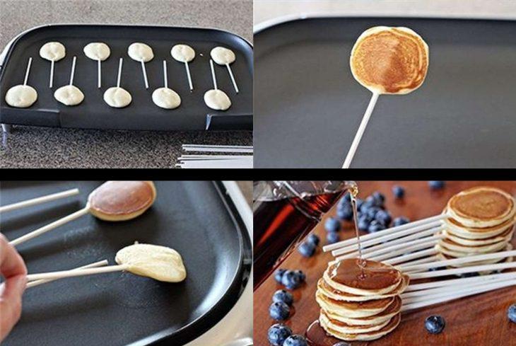 Pancakes de paleta paso a paso.