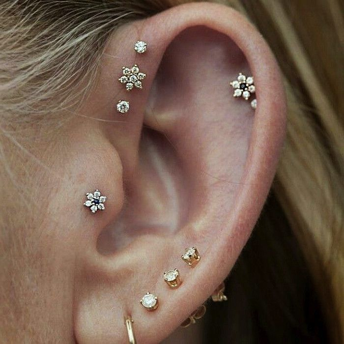 20 atrevidos y lindos piercings en la oreja que querr s usar - Fotos de pendientes ...