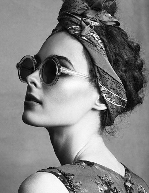 Fotografía de moda en blando y negro.