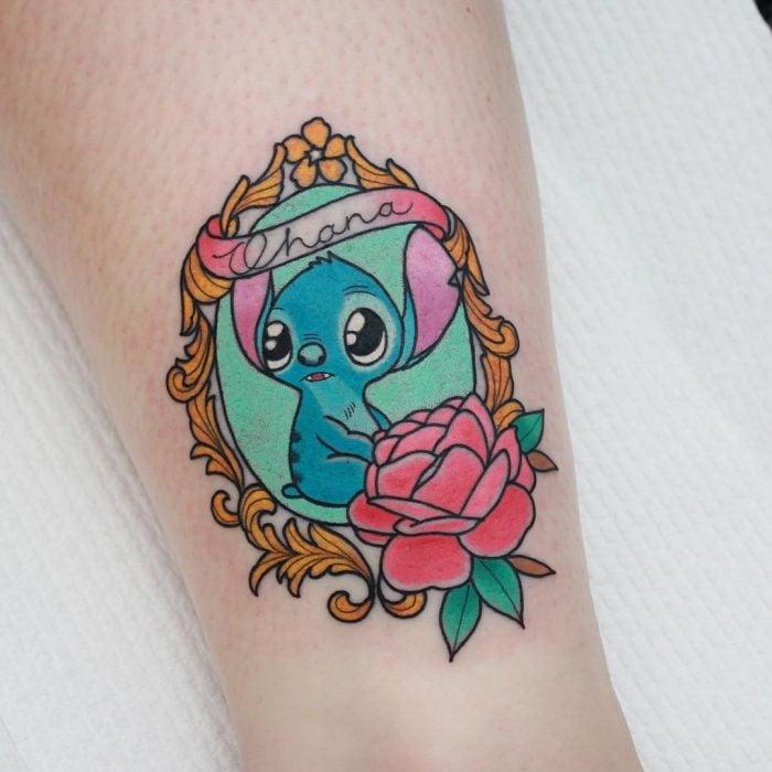 Tatuaje de stich de la película lilo y stich