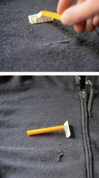 rastrillo usado para quitar pelusas de la ropa