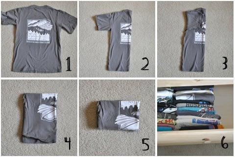 Formas de doblar la ropa para que ocupen menos espacio