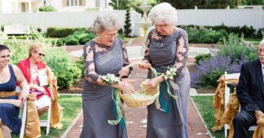 En esta boda, las abuelas de los novios fueron las damitas de honor y es completamente adorable