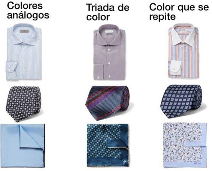 ilustración camisas de hombre, corbatas y pañuelos con estampados