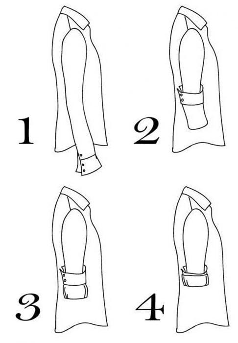 Ilustración dibujo de camisas y mangas