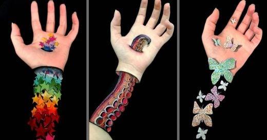 Esta chica crea impresionantes ilusiones ópticas en sus manos